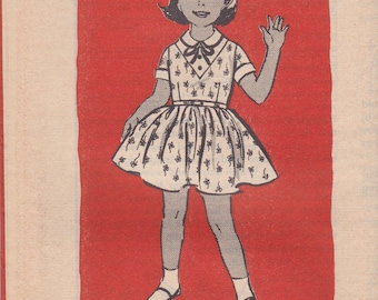 Girls' Vintage Dress Pattern Mail Order 4914 Size 6 Uncut