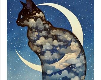 Feline moon