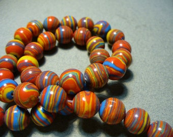Synthetic Round Beads Fiesta 10MM
