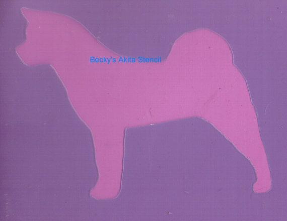 Puppy Bows ~ Akita dog breed plastic craft stencil