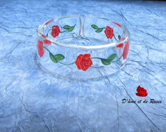 Bracelet 1 clear and Red Roses