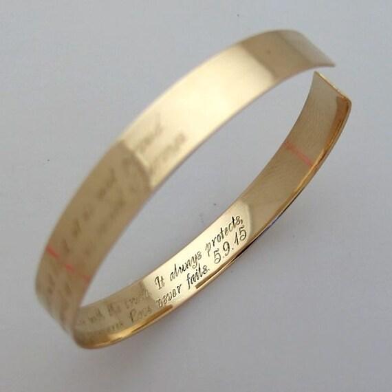 personalized gold bracelet secret message bracelet two sides