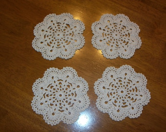 Crocheted Coasters - Set of 4