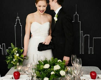 Black Rose Clutch & light Gold Frame, gift for bride, photo clutch, little black dress purse, wedding gift