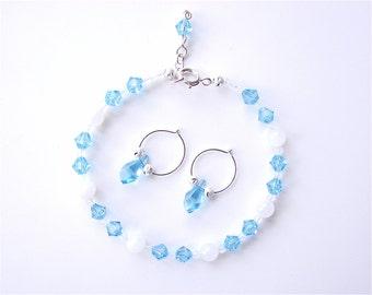 March Swarovski Crystal Birthstone Bracelet Set JBEC002