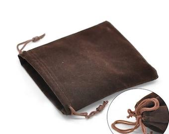 5 bags coffee 12x10cm velvet pouches