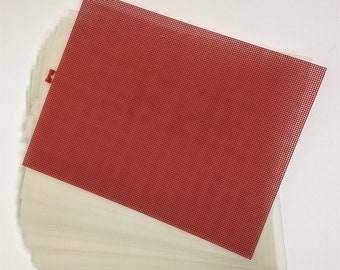 Plastic Canvas 23 Sheets Clear Darice 10 Count Mesh 10 1/2 inches X 13 1/2 inches - Plastic Canvas Supplies