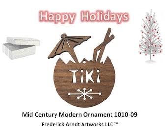 1010-9 Mid Century Modern Christmas Ornament