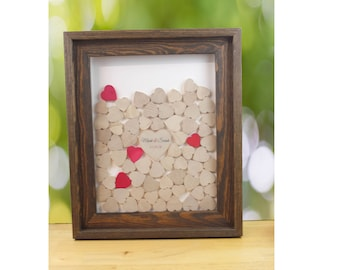 Alternative Guest book drop box frame guest book Drop top Wedding guest book alternative wedding wish box