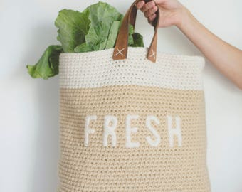 PDF Crochet Pattern for the Farmer's Market Bag