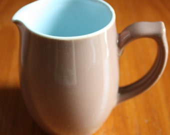 Small Langley, Milk Jug - Brown and Blue. Derby Pottery