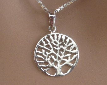 Tree of Life Sterling Silver Pendant Charm Symbolic Family Womens Jewelry Gift