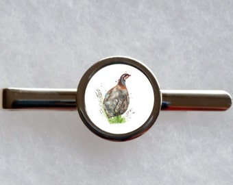 Partridge Tie Clip - can be fully personalised