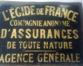 Enamel sign from the 40s