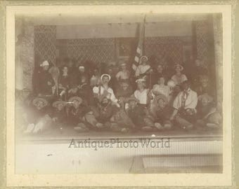 Civil War theater play antique photo