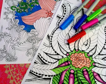 Set of Ocean Life Coloring Pages Star Fish and Octopus