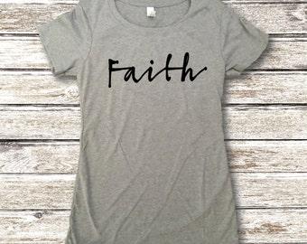 Faith Shirt - Faith Tees - Christian Apparel - Christian Shirts - Religious Shirts - Faith
