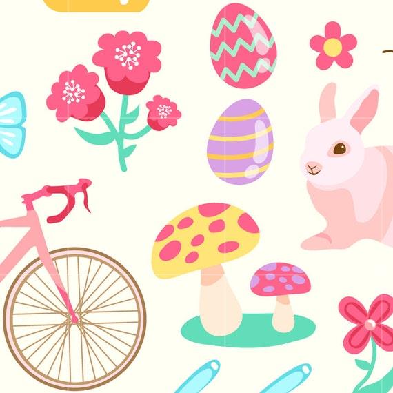spring season digital clip art garden digital clipart design rh etsy com spring season clipart pictures free spring season clipart