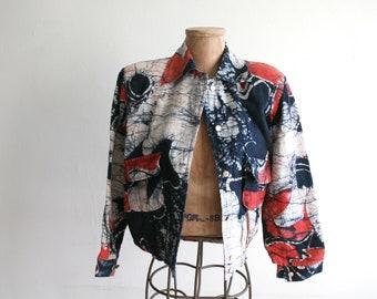 Wax Print Batik Textile Jacket