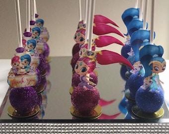 Shimmer and Shine Themed Cake Pops