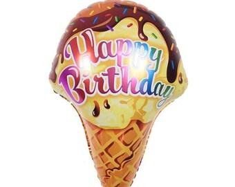 """SALE-ice cream balloon, birthday balloon, ice-cream cone balloon, jumbo balloon-27"""""""