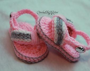 Crochet Baby Girl Summer Sandals, Baby Flip Flops