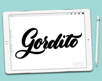 Procreate Brush, Gordito, Fat Procreate Brush, brush lettering, Procreate Brushes, Procreate Brush, iPad lettering
