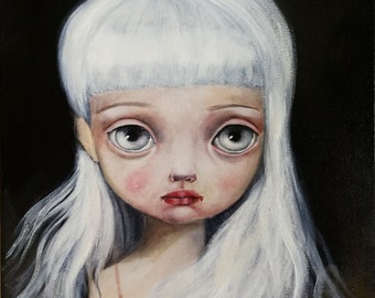 The Dream girl, oil on canvas, oil painting, popsurrealism, lowbrow art