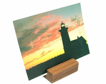 Photo Holder, Postcard Holder, Postcard Display, Photo Display, Picture Display, Keepsake Memory, Wood Business Card Holder