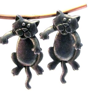Hanging Cat Pierced Earrings