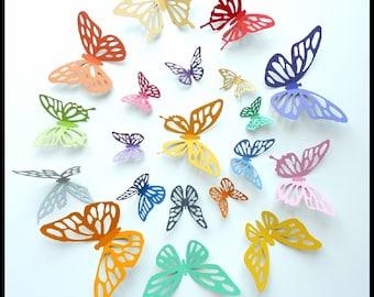 3D Wall Butterflies - 15 Colorful Butterflies for Decorate Nursery, Wedding, Home Decor