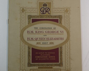 Vintage British Cigarette Card Set The Coronation of H M King George the VI and Queen Elizabeth 1937