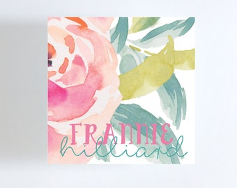 Large Floral Gift Tag or Calling Card