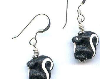 Skunk Sterling Silver Earrings