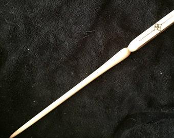 Poplar Hardwood Wand, magic wand, rune wand, runes, wizard wand, witch wand, wand