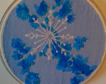 Snow and frost cross stitch