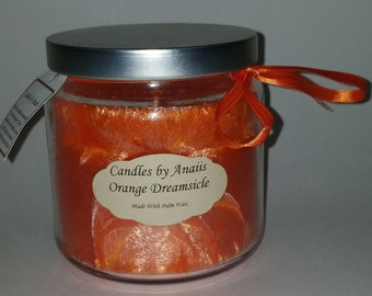 Orange Dreamsicle Scented Palm Wax Candle