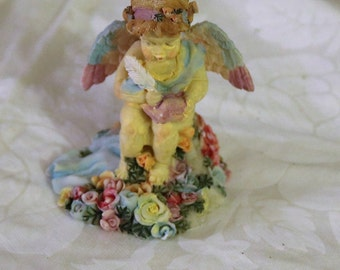 Vintage New Miniature Angel Statue