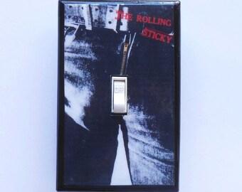 Gag Switch plates MATCHING SCREWS- Humorous Rolling Stones album rock music art Michelangelo David gag switchplate funny switch plates humor