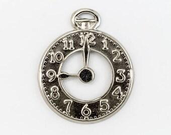 20mm Silver Pocket Watch Charm #CHA018