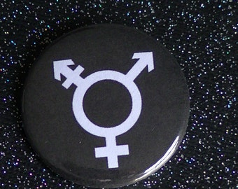 Transgender Button - 1.5in Pin - LGBTQ - Trans Symbol - Trans Pride - LGBTQIA