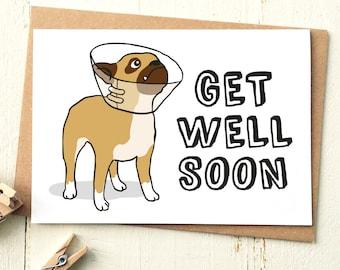 Funny Get Well Card - Get Well Soon Card - Dog Card - Get Well Card - Sympathy Card - Funny Cards - Get Well Soon - Funny Friend Card
