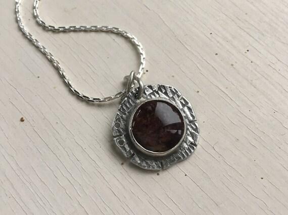 Pietersite Pendant, Pietersite Necklace, Organic Stone Jewelry