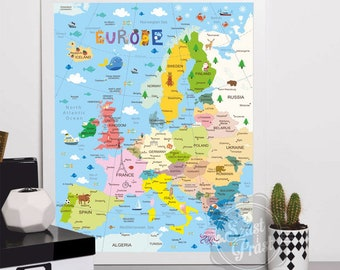 Poster Map of Europe