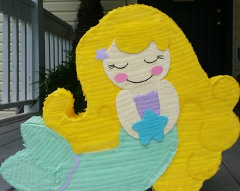 Under the Sea Mermaid First Girl Birthday Party Pinata