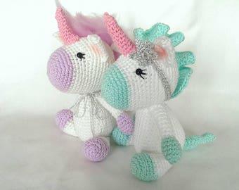 Amigurumi unicorn,crochet unicorn,handmade plushies
