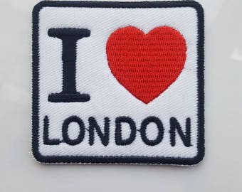 I Love London Patch Iron On Embroidered Patch 6.2 cm x 5.8 cm