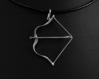 Sterling silver Hungarian Bow Pendant