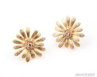 Daisy Earrings in Matte Gold / 18mm x 18mm / BMG238-E (2pcs)