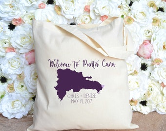 Welcome to Punta Cana Destination Wedding Welcome Bag - Dominican Republic - Punta Cana Welcome Tote